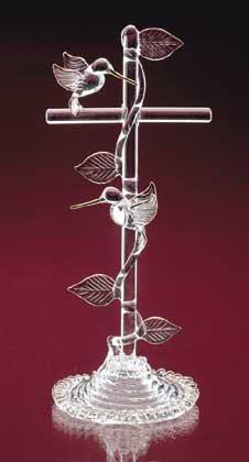 Hummingbirds On Cross