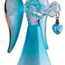 Glass Angel With March Birthstone