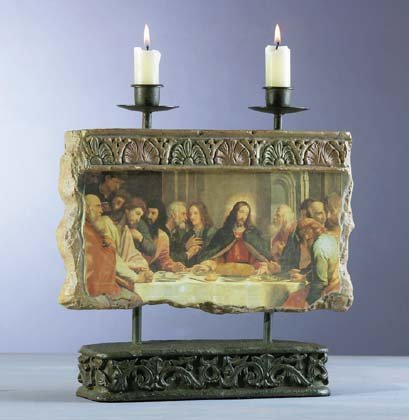 Patchwork Candleholders - Last Supper