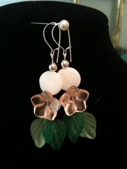 Flower and Shell Earrings