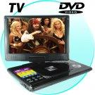 "12"" Portable  DVD Player&tv 12 Inch USB port MEMcard"
