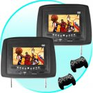 Car Headrest Entertainment System with DVD player, CD Player, MP3 and MP4 player, video games