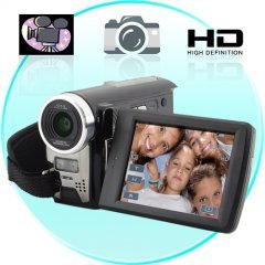 HD Camcorder - DV Camera w/ 3x Optical Zoom and 2 SD Card Slots