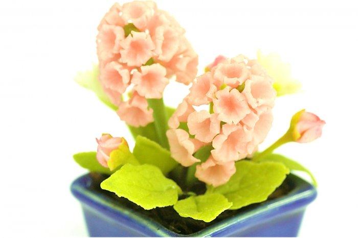 FLOWER DOLLHOUSE MINIATURES CRAFT CLAY HANDMADE SALE
