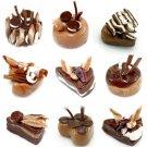 9MINI CHOCOLATE CAKE ARTS CLAY DOLLHOUSE MINIATURE 1:12