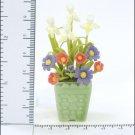 FLOWER DOLLHOUSE MINIATURES CRAFT CLAY HANDMADE SALE#36