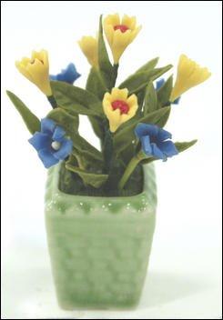 FLOWER DOLLHOUSE MINIATURES CRAFT CLAY HANDMADE SALE#33
