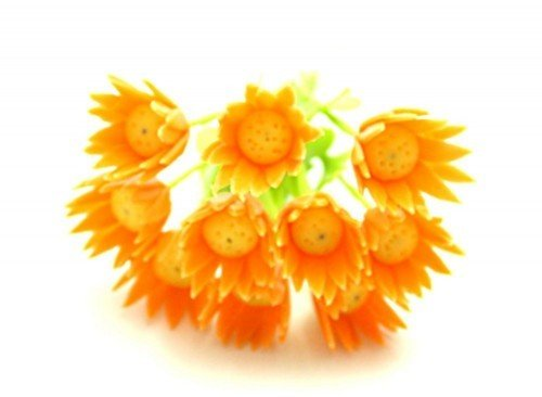 Set of 6 Stems Orange Gerber Doll house Miniatures#27