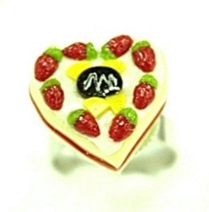Cute Mini Cake Adjustable Rings Art Clay Jewelry #4