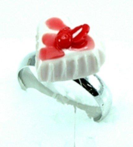 Cute Mini Cake Adjustable Rings Art Clay Jewelry #3