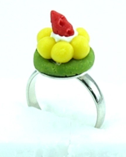 Cute Mini Cake Adjustable Rings Art Clay Jewelry #2