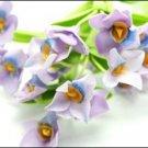 Set of 6 Stems Purple Orchid Dolhouse Miniatures#39