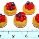 Set of 5pcs Mini Cake  Doll house Miniature NBR17