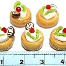 Set of 5pcs Mini Cake  Doll house Miniature NBR11