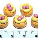 Set of 5pcs Mini Cake  Doll house Miniature NBR10