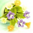 DOLLHOUSE MINIATURE HANDMADE CLAY FLOWER ART CRAFT GIFT