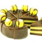 8 CAKE SLICED  HANDMADE CLAY DOLLHOUSE MINIATURE NBR114