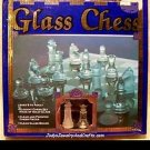 Vintage Clear & Frosted Glass Chess Board Game - NEW !