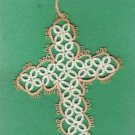 Tatted Cross Bookmark BEAUTIFUL HANDCRAFTED WORK - GTC0353