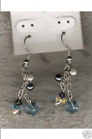HANDCRAFTED Swarovski Butterfly Crystal Chain Earrings