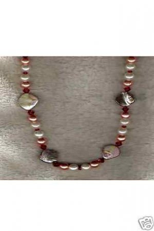 HANDCRAFTED Bronze Nugget FWP Swarovski Crystal Necklace - 53565N