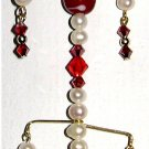 HANDCRAFTED Original @2006-2010 Design Patent Red Lampwork & Swarovski Crystal Suncatcher
