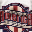 United States Of America Established1776 Tshirt Lg NWOT
