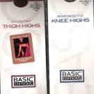 Basic Edition Nylon Stockings Set Of 2 Thigh High + Knee High