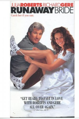 Runaway Bride Starring Richard Gere and Julia Roberts (1999, VHS)