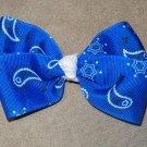 Blue Bandana Bow