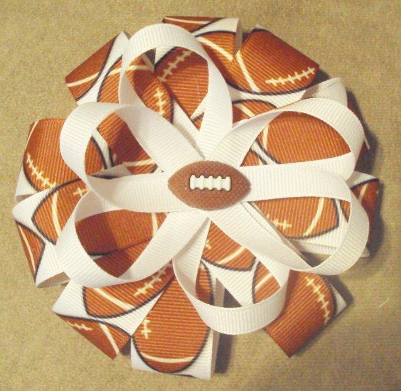 Football Flower Style Bow