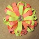 Hot Pink & Neon Green W/ Matching Butterfly Center