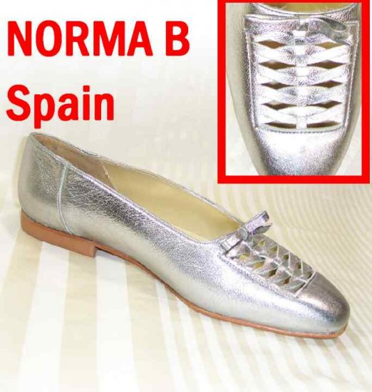 Woven Silver Flats by Norma B - Made in Spain - Retail $109 - YOUR PRICE $11.99 - Sz 8