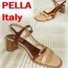 Unique Tri-Tone Strappy Sandals Pumps - Pella Italy - Retail $145 - YOUR PRICE $24.99 - 8M