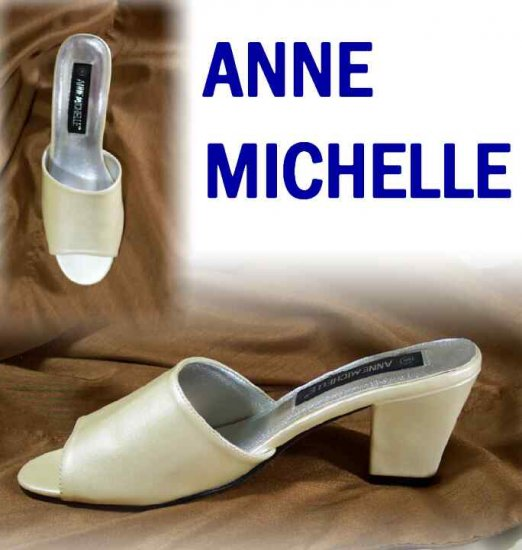 Champagne Patent Slides Pumps by Anne Michelle - Retail $88 - YOUR PRICE $9.99 - sz 9