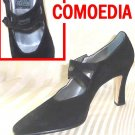 Runway Handmade Italian Pumps - Black Suede - Retail $399 - YOUR PRICE $59.99 - sz 9.5