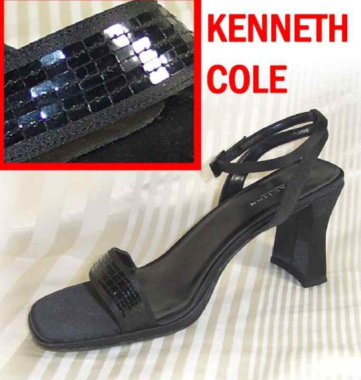 Kenneth Cole Embellished Black Sandals Pumps - Retail $99 - YOUR PRICE $12.99 - sz 9.5