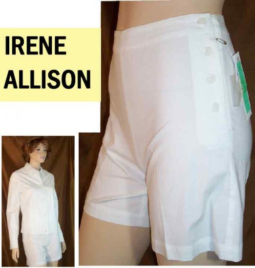 Stretch Cotton Shorts wJacket Suit by Irene Allison - Retail $199 - YOUR PRICE $19.99 - xs