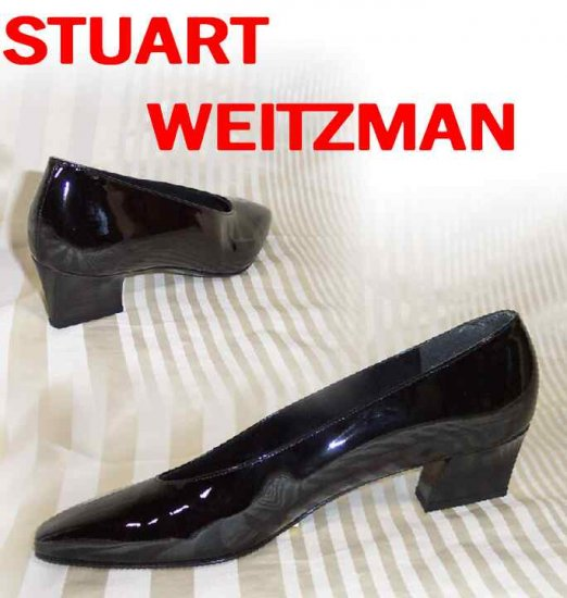 Black Patent MidHeel Pumps by Stuart Weitzman - Classy - Retail $185 - YOUR PRICE $31.99 - 7 AAAA
