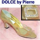 Vintage '60s Gold Lame wRhinestone Cinderella Pumps - UNWORN - USA-made - YOUR PRICE $18.99 - 6.5