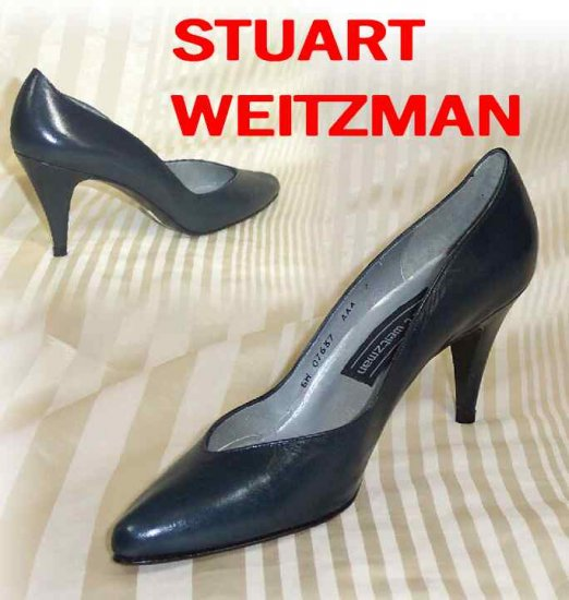Elegant Weitzman Glamor Navy Indy Pumps - Retail $165 - YOUR PRICE $29.99 - 7 AA