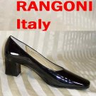 Rangoni Mirror-Brite Black Patent Pumps - Retail $155 - YOUR PRICE $21.99 - 6.5