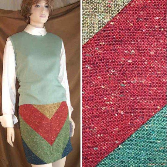 Tweedy Chevron Skirt by Dorothy Schoelen - Retail $198 - YOUR PRICE $19.99 - sz 8