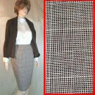 Wool-Linen Plaid Exec Skirt in Brown by Tracy-Allard - Retail $185 - YOUR PRICE $19.99 - sz 8