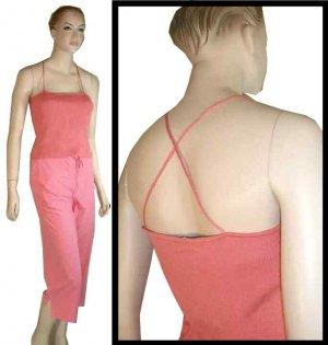 HALSTON Coral Silk-Spandex Knit Camisole in Coral - $17.99 - Retail $141 - sz L