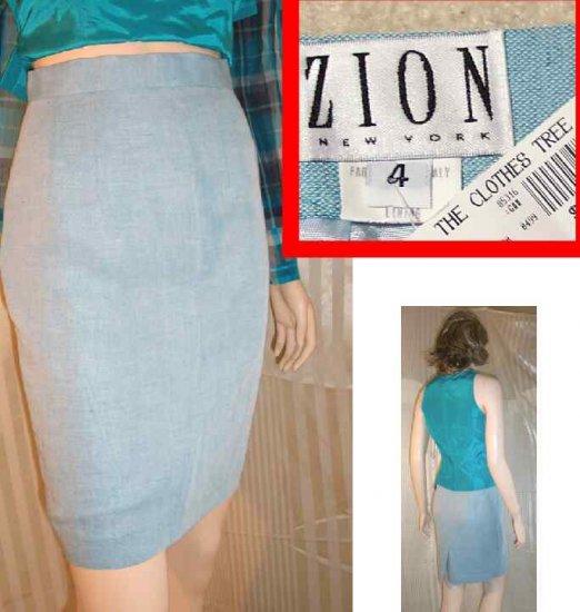 Lite Blue Linen Skirt by Zion - Italian fabric - $18.99 - Retail $132 - sz 4