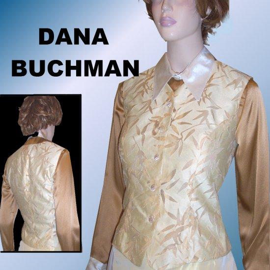 Dana Buchman Evening Vest in Pale Yellow wGold - $21.99 - retail $178 - sz 4