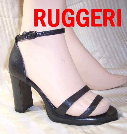Ruggeri Italy Killer Pumps Sandals - Black - Your Price $24.99 - Retail $135 - sz 8.5
