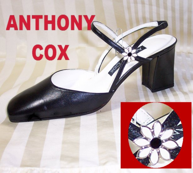Anthony Cox Black Singlback Pumps - Embellished - $24.99 - sz 7.5