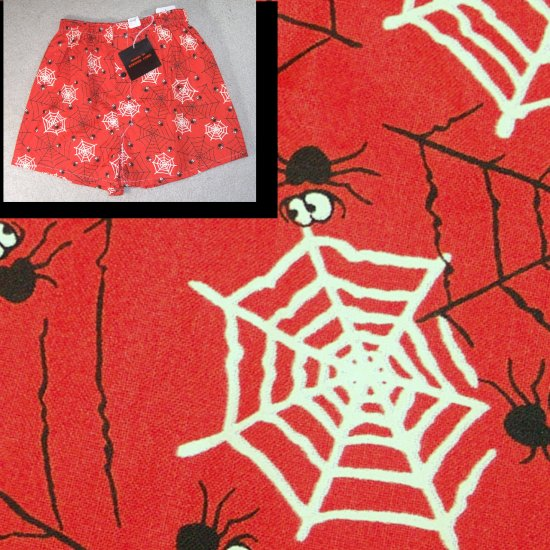 GOTHIC Boxer Shorts wSpider Motif - Novelty - small $9.99